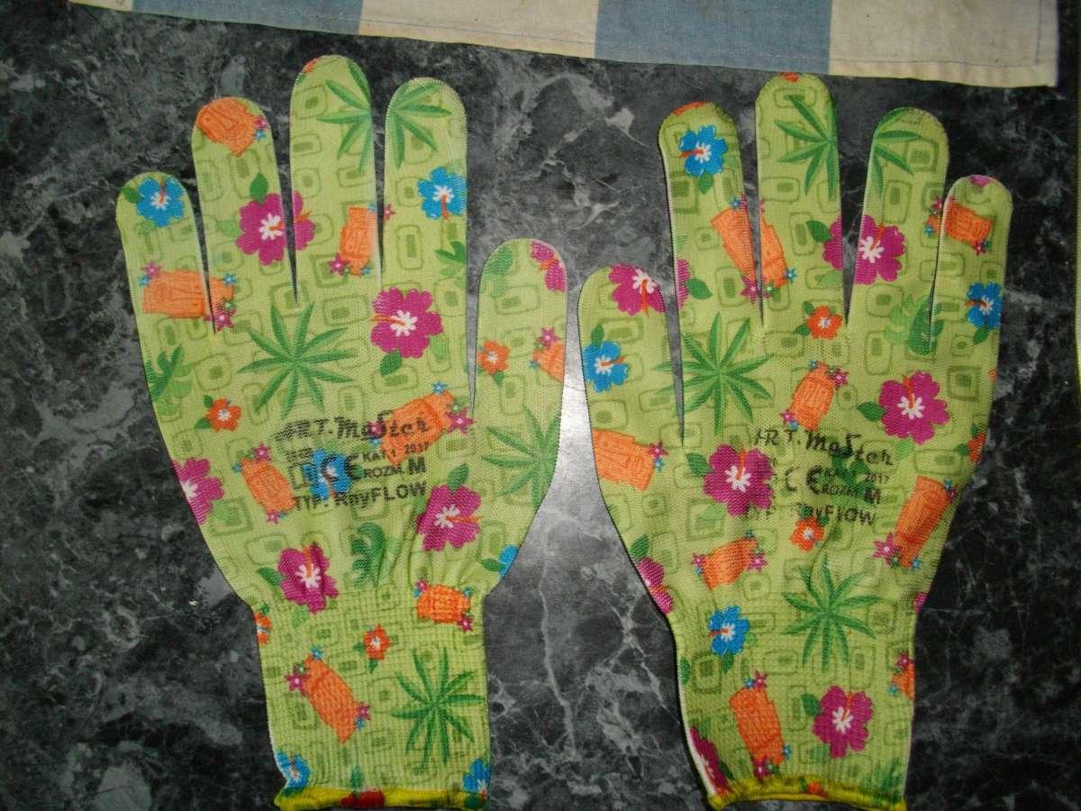 Перчатки женские цветные нейлоновые Rnyflow