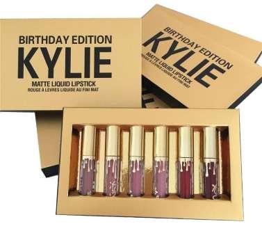 ОПТОМ Наборы из 6 матовых жидких губных помад Kylie Birthday Edition