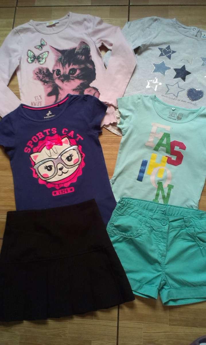 Комплект стильной брендовой одежды на девочку 6-8 лет р 122-128   6 шт