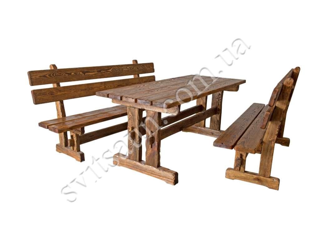 Стол обеденный, брашированный, уличный