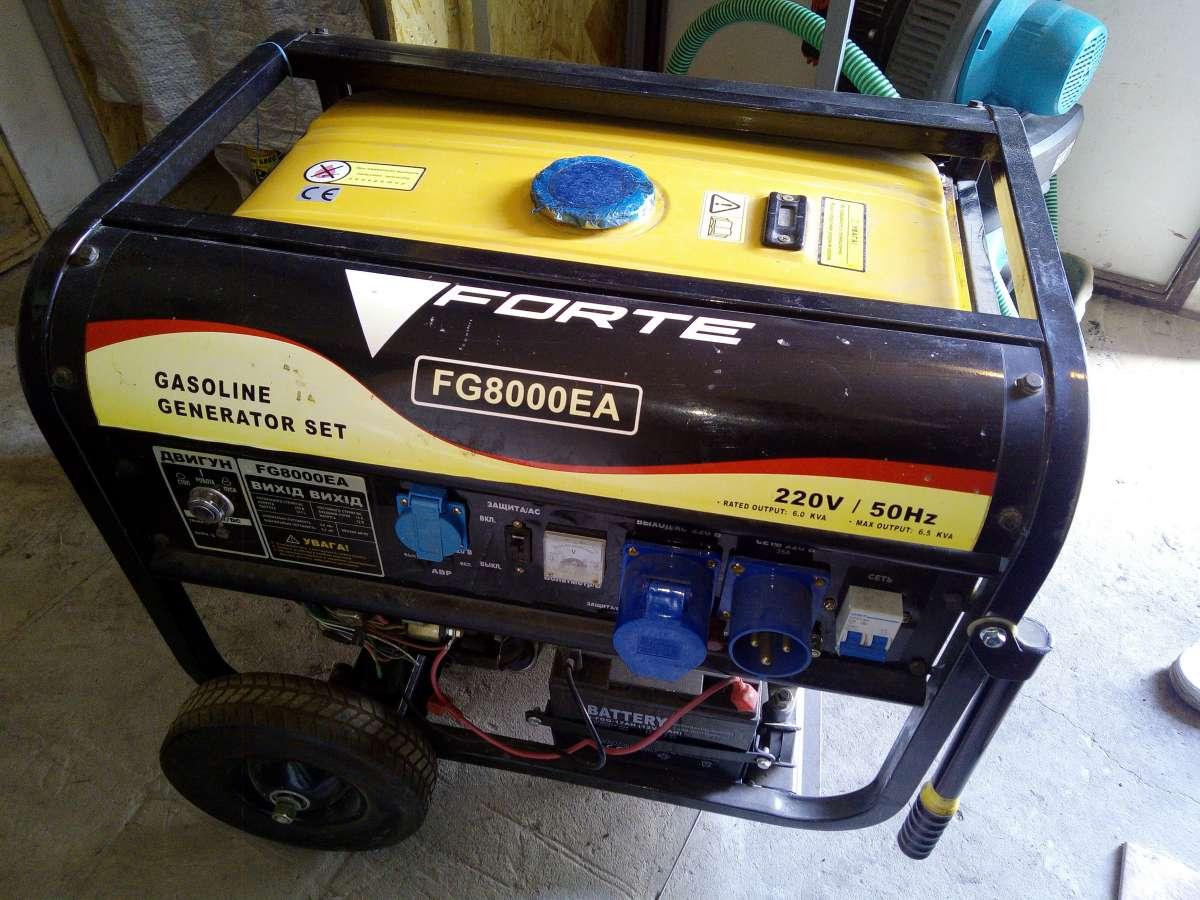 Генератор бензиновый, Бензогенератор, Forte FG8000EА, 6кВт, Автоматика