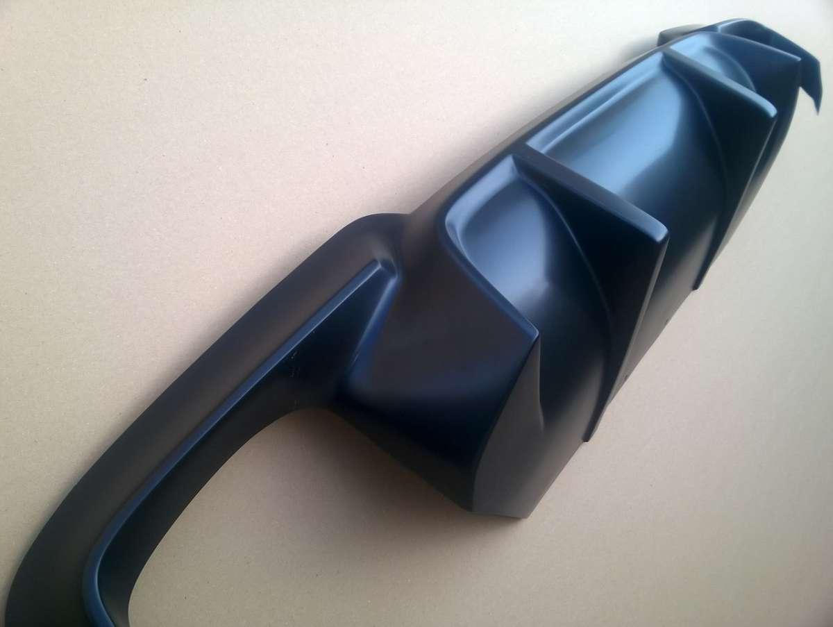 Диффузор заднего бампера-Mпакет для BMW F10 (разводка на две трубы)