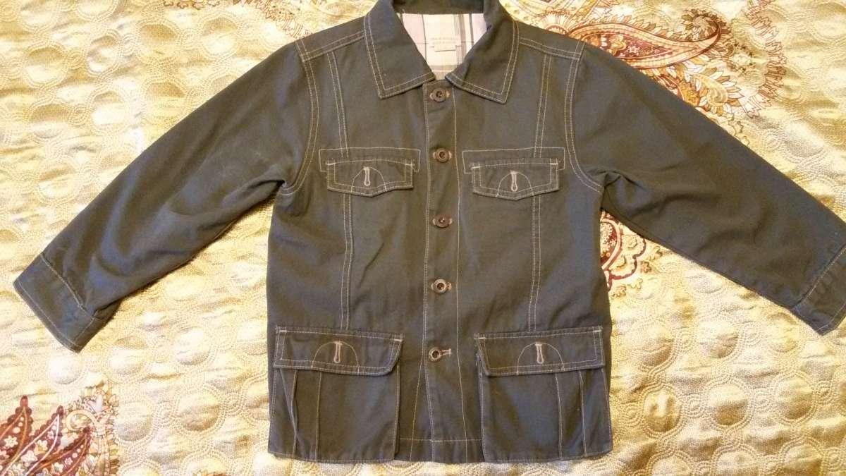 Пиджак на мальчика Оранжевый верблюд122-134р. 100 хлопок
