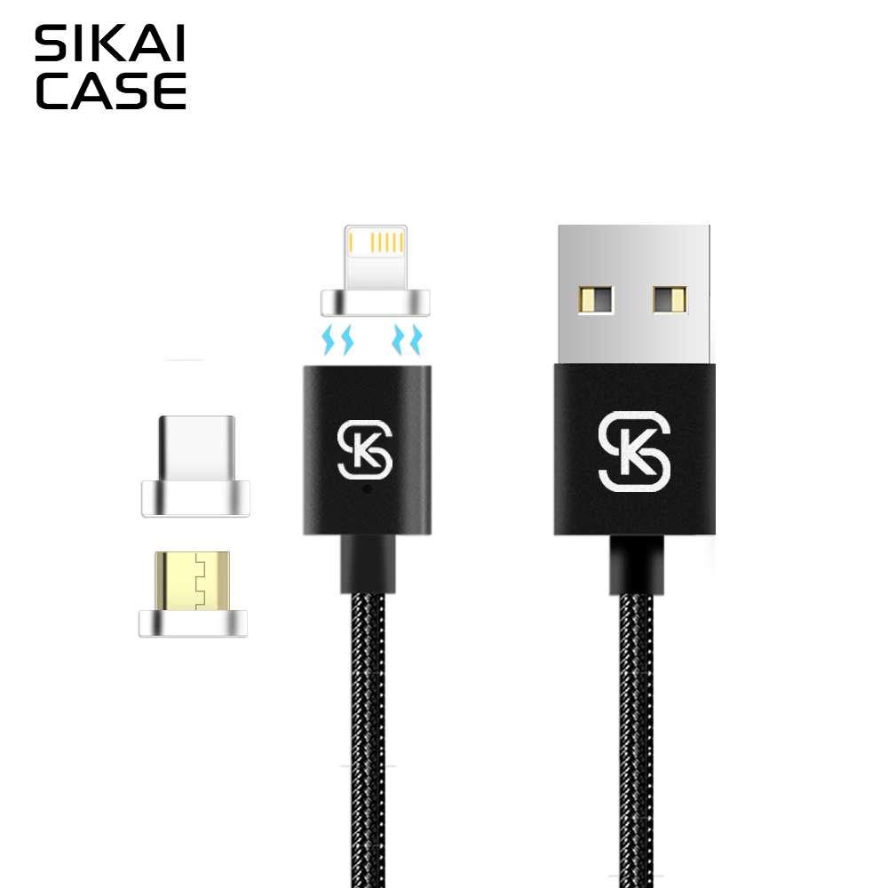 """SIKAI"" Магнитный кабель для передачи данных 2.4A / Apple, Adroid"