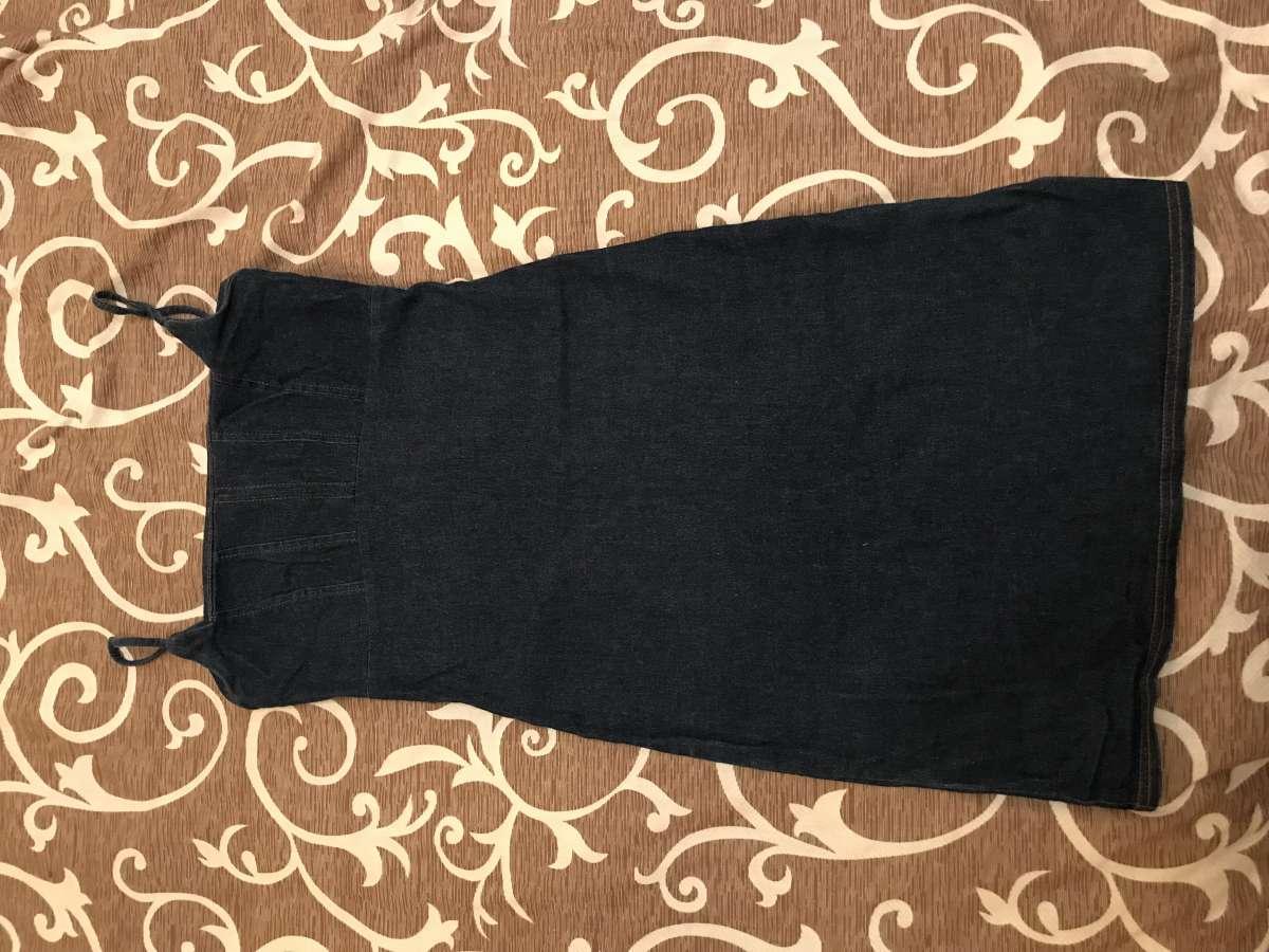 Джинсовый сарафан/платье, стрейчевый