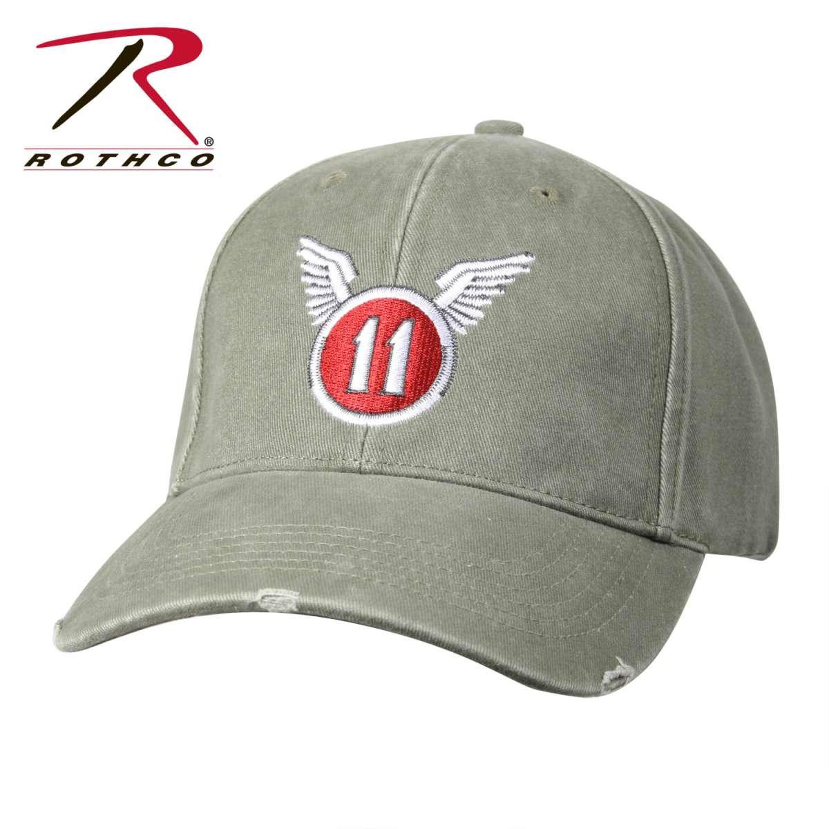 Кепка бейсболка Vintage 11th Airborne производства Rothco NY, USA