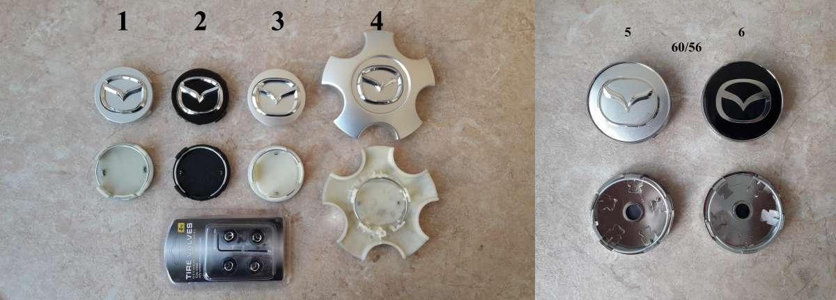 Ступичные колпачки (заглушки в диски) Mazda (Мазда)