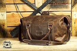 "Кожаная сумка ""Sport&Travel"" DS Brown"