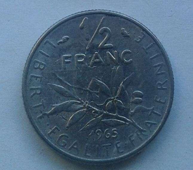 1/2 франка 1965 Франция