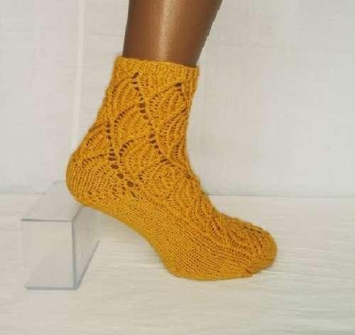 В'язані шкарпетки з вовни мериноса. Ручна робота.
