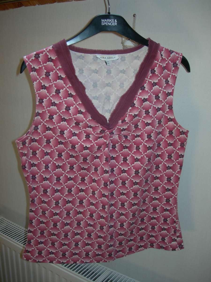 Майка, футболка, Laura Ashley, р 14, 48