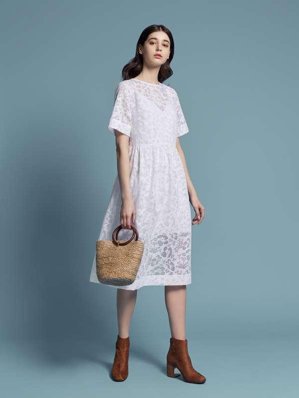 ffb0ce203e7b29 Напівпрозоре біле плаття з майкою