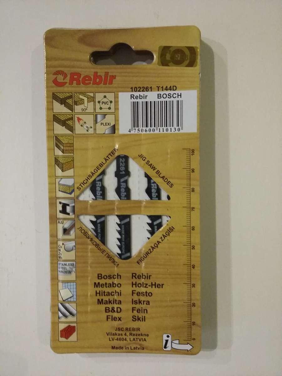Пилочки Rebir для электро-лобзика , артикул 102261 T144D (по дереву)