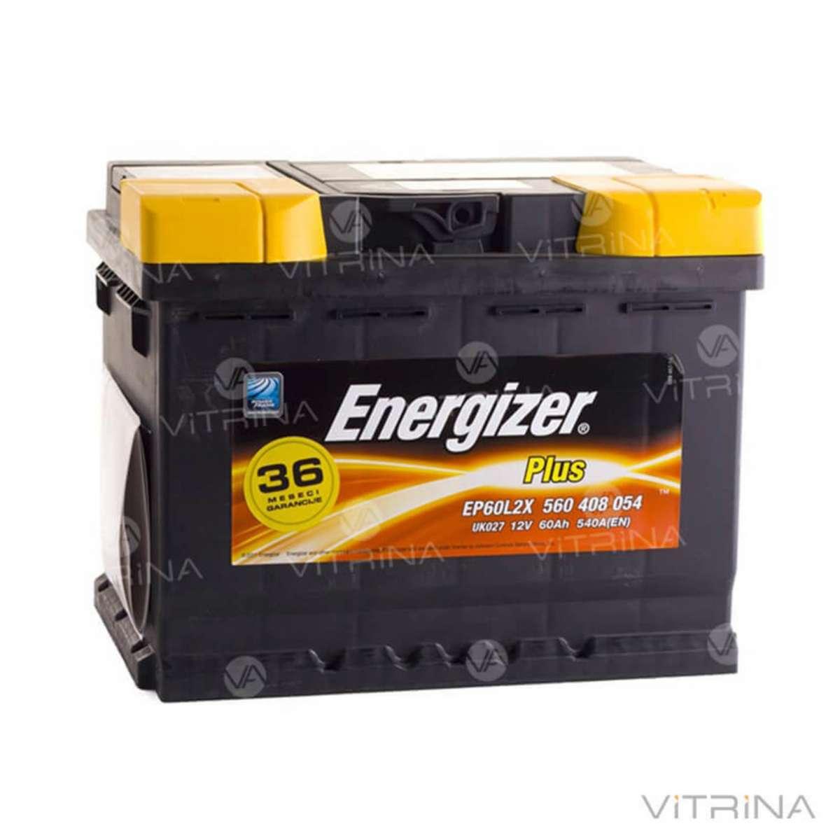 Аккумулятор ENERGIZER Plus 60Ah-12v 242х175х190 со стандартными