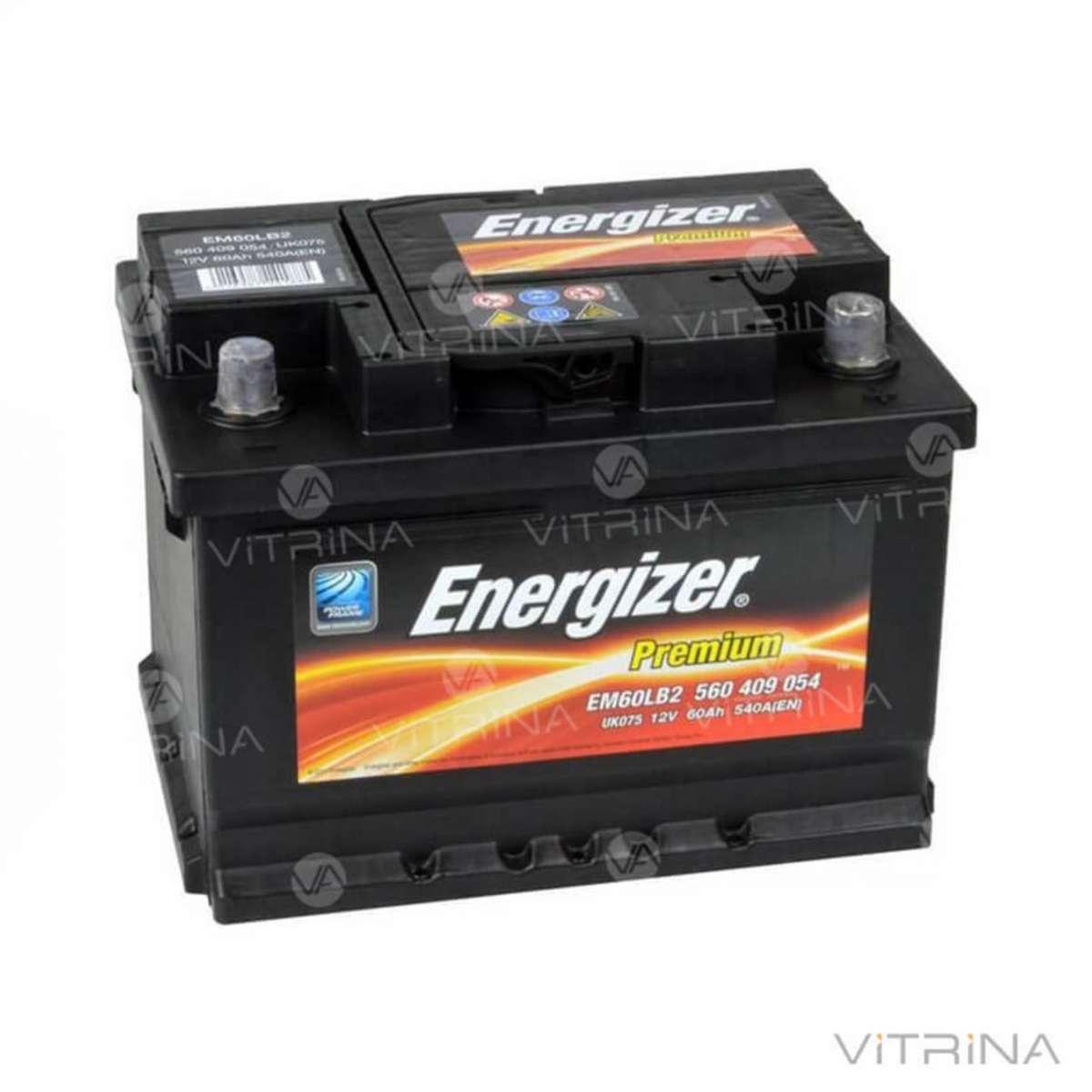 Аккумулятор ENERGIZER Prem. 60Ah-12v 242х175х175 со стандартными