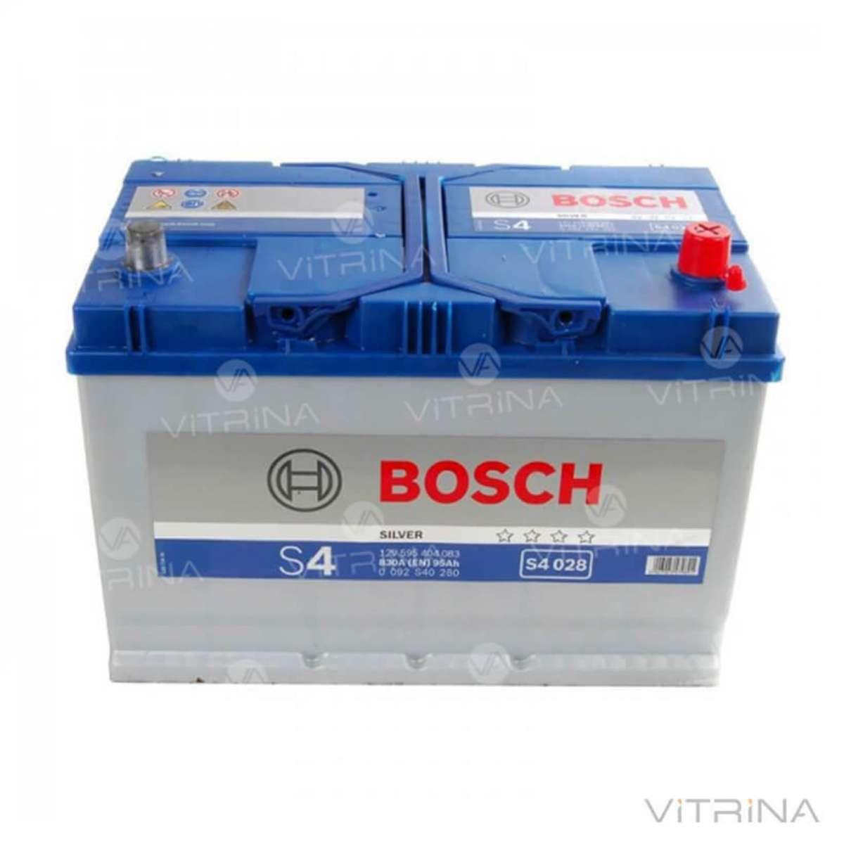 Аккумулятор BOSCH 95Ah-12v S4028 306x173x225 со стандартными клеммами