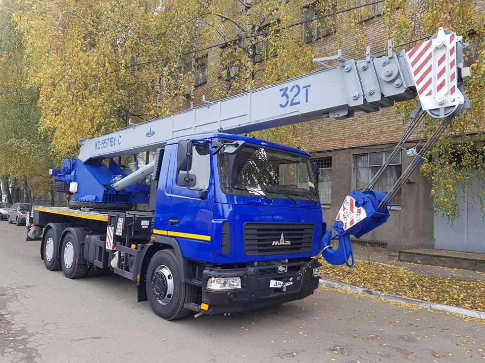 Новый автокран КС-5571BY-С-22 Машека 32 тонны на шасси МАЗ-6312С3