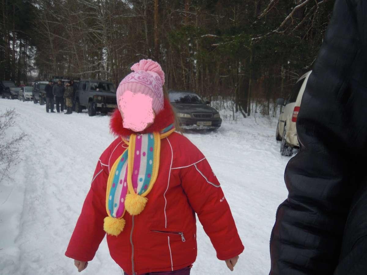 зимняя куртка пуховик на девочку 6-8 лет