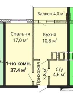 Продам 1 комнатную квартиру в ЖК Михайловский городок