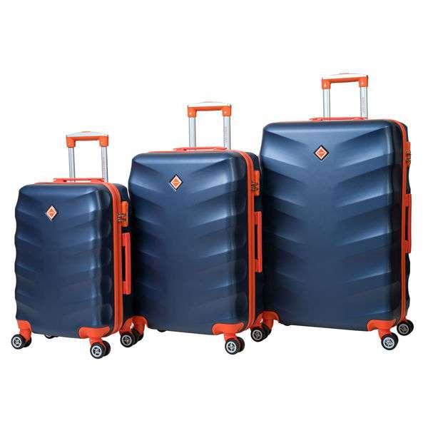 Чемодан сумка дорожный Bonro Next набор 3 штуки темно-синий