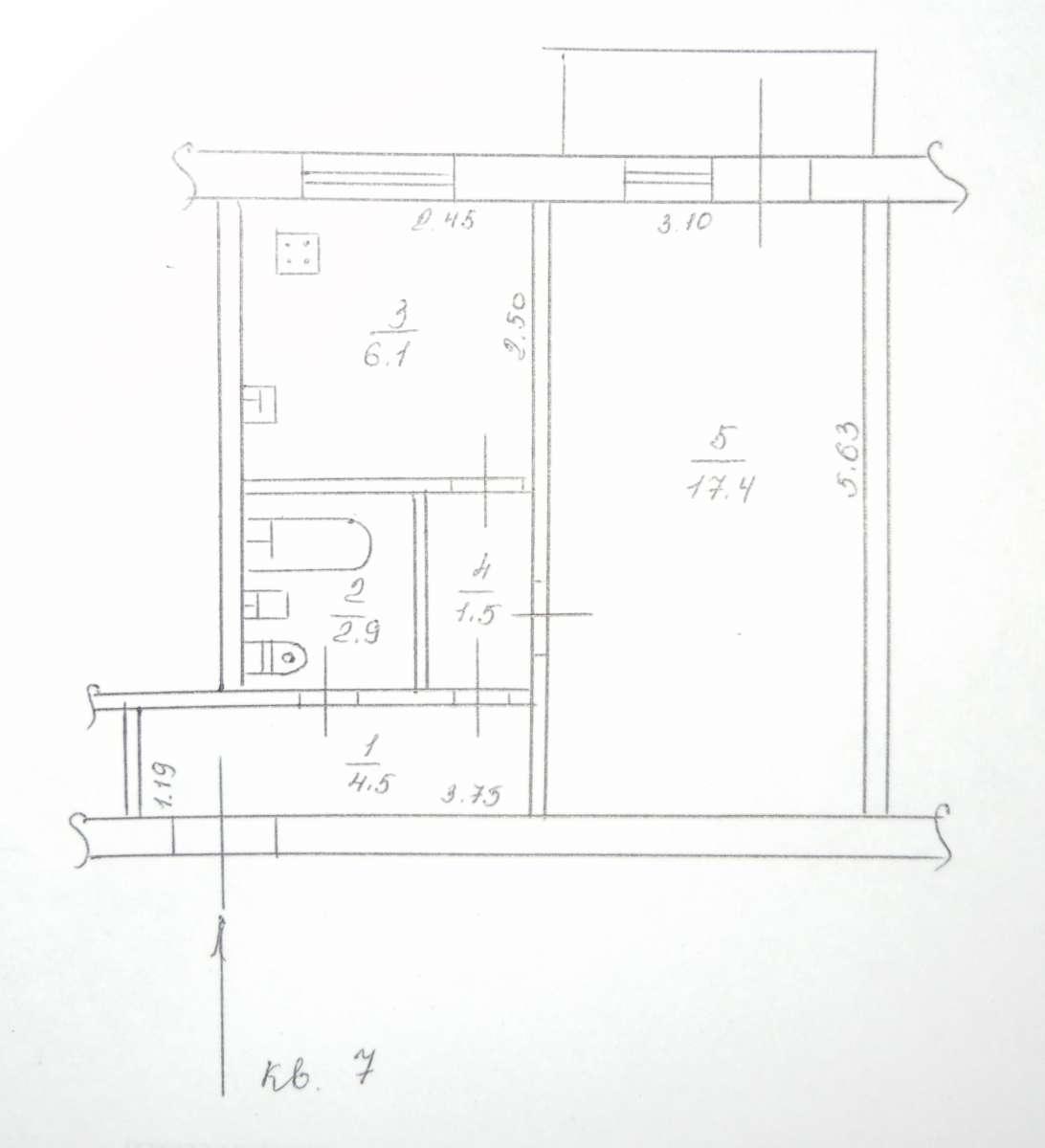 СРОЧНО ДО 30.06 Однокомнатная квартира, не угловая, 2 этаж, без долгов