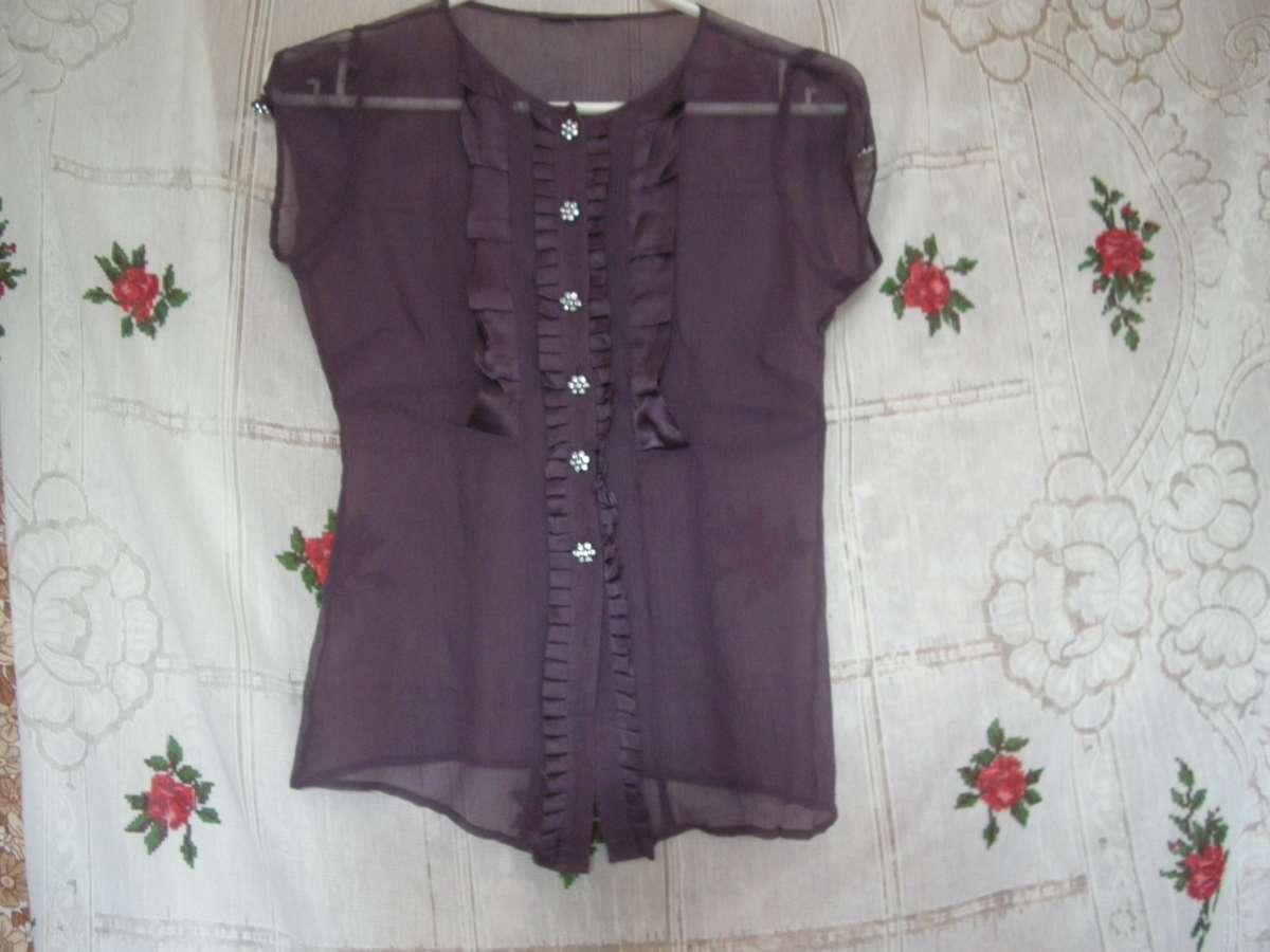 Блуза сиреневого цвета,р.6-8