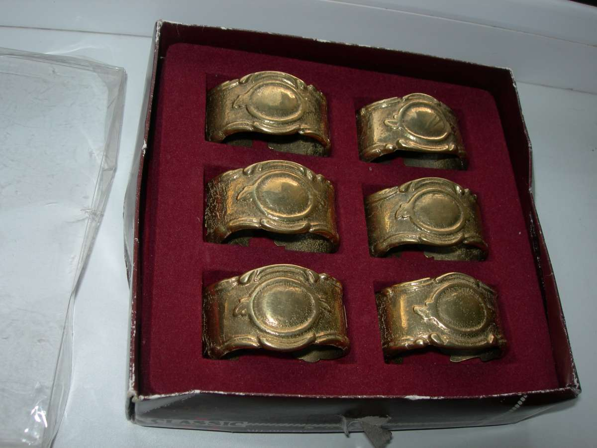 Кольца для салфеток, салфетницы, бронза, Германия, набор