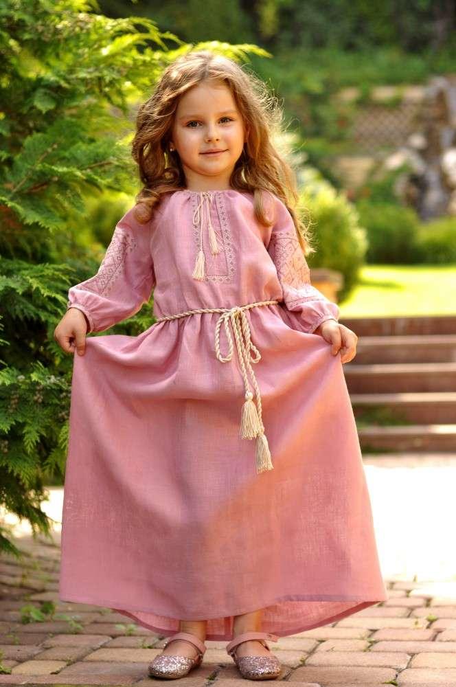 Довга святкова сукня для дівчинки
