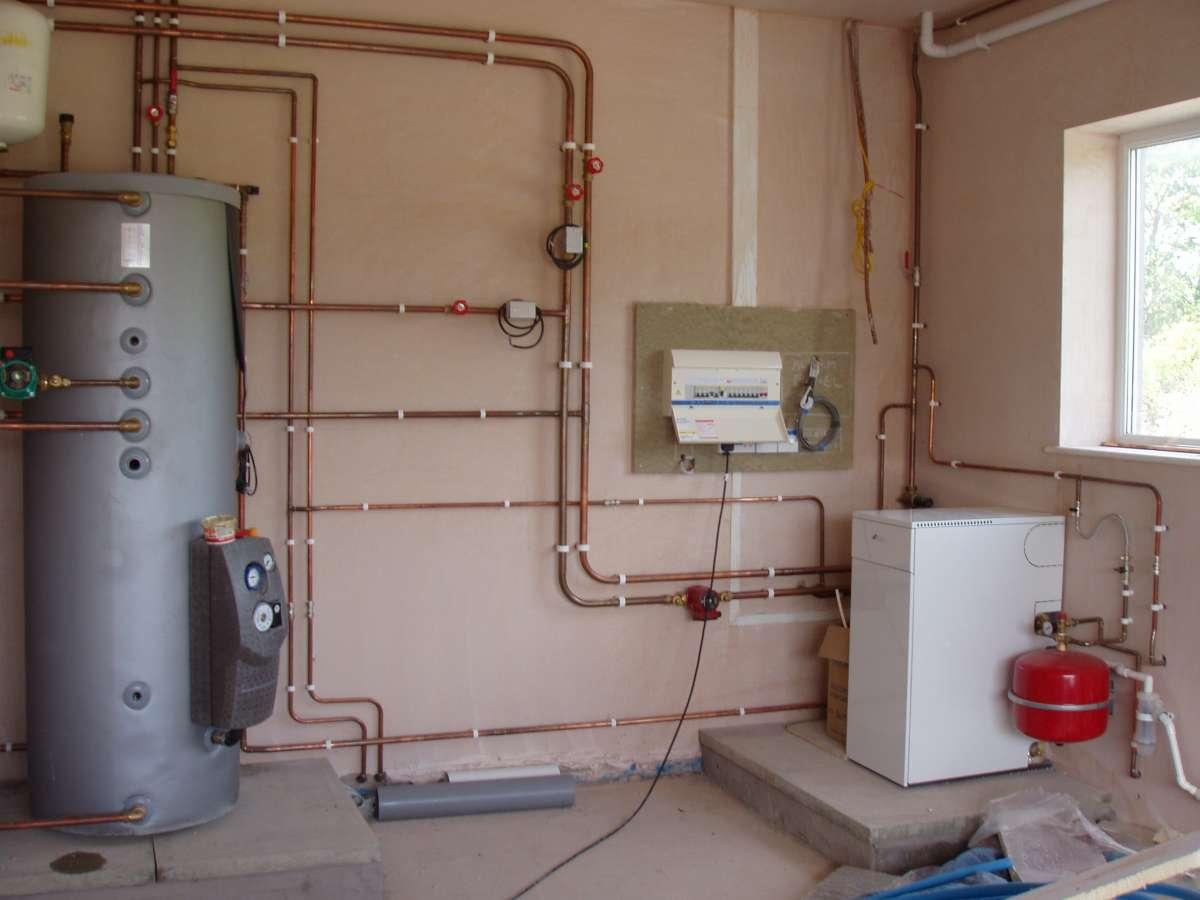 Отопление дома. Монтаж. Водоснабжение и канализаци