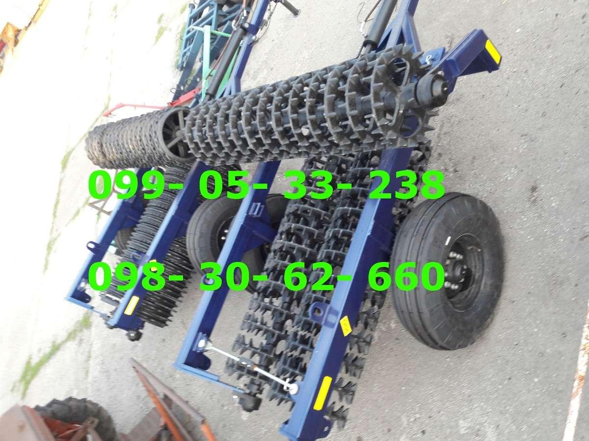 Каток ККш-6 Шпорово-кольчатый на колесах(гидравлика)520мм-сталь