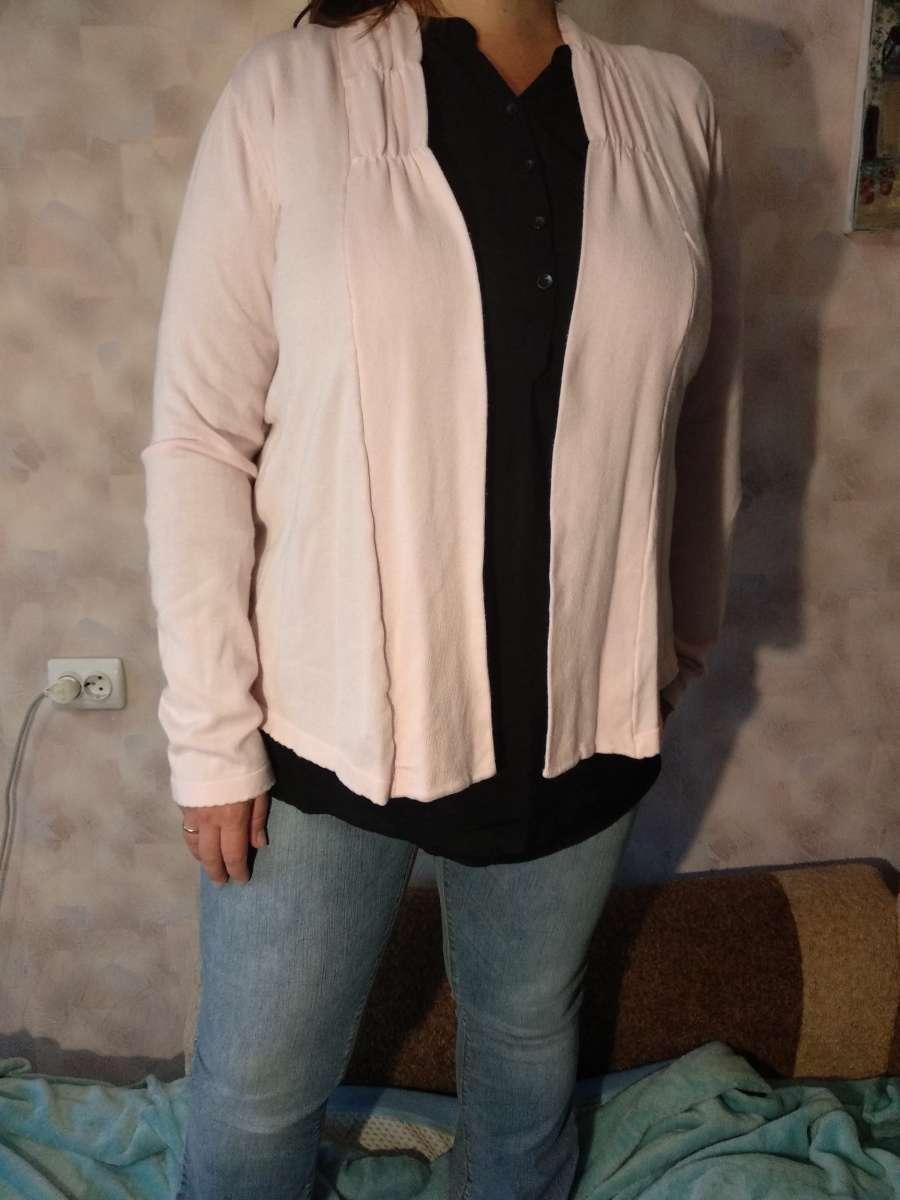 Світло-рожева кофта-накидка Bonprix