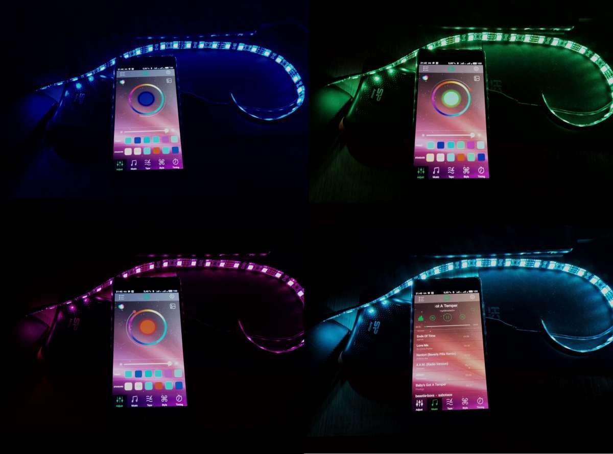 LED лента USB, управление телефоном через bluetooth