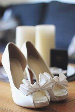 Атласные свадебные туфли