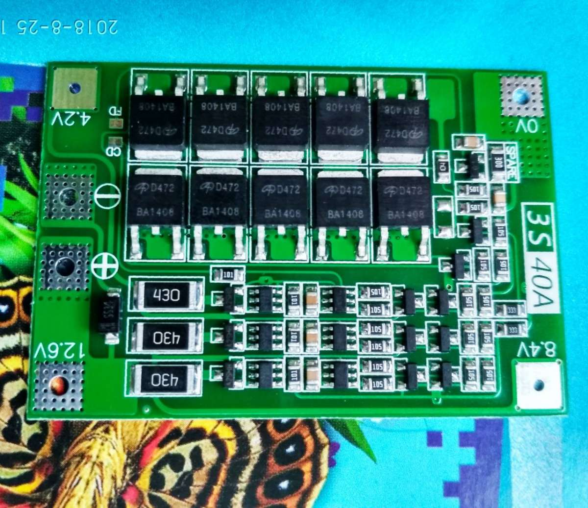 BMS 3S 40-80А 12.6V Контроллер заряда разряда Li-Ion с балансиром