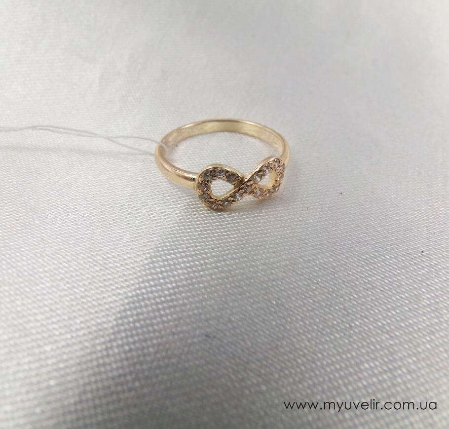 Серебряное кольцо восьмерка
