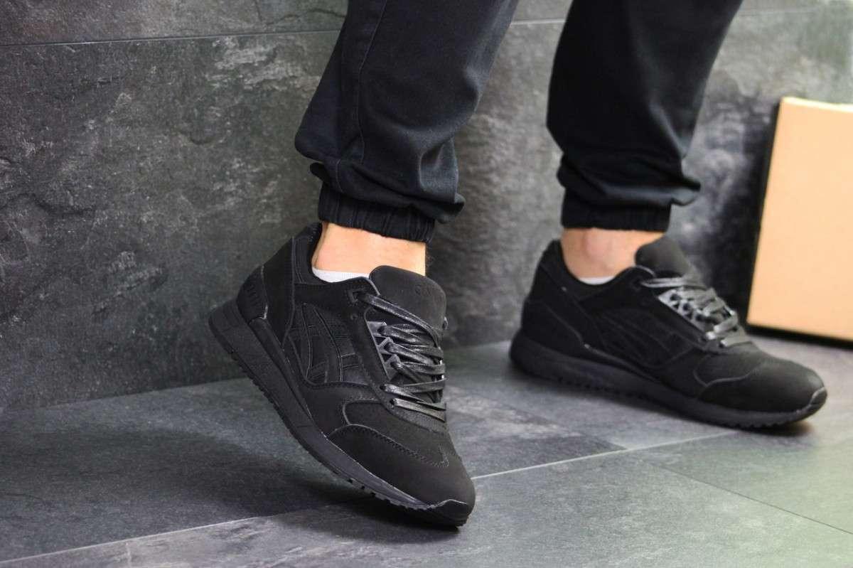 Мужские кроссовки черные Asics Gel 7247