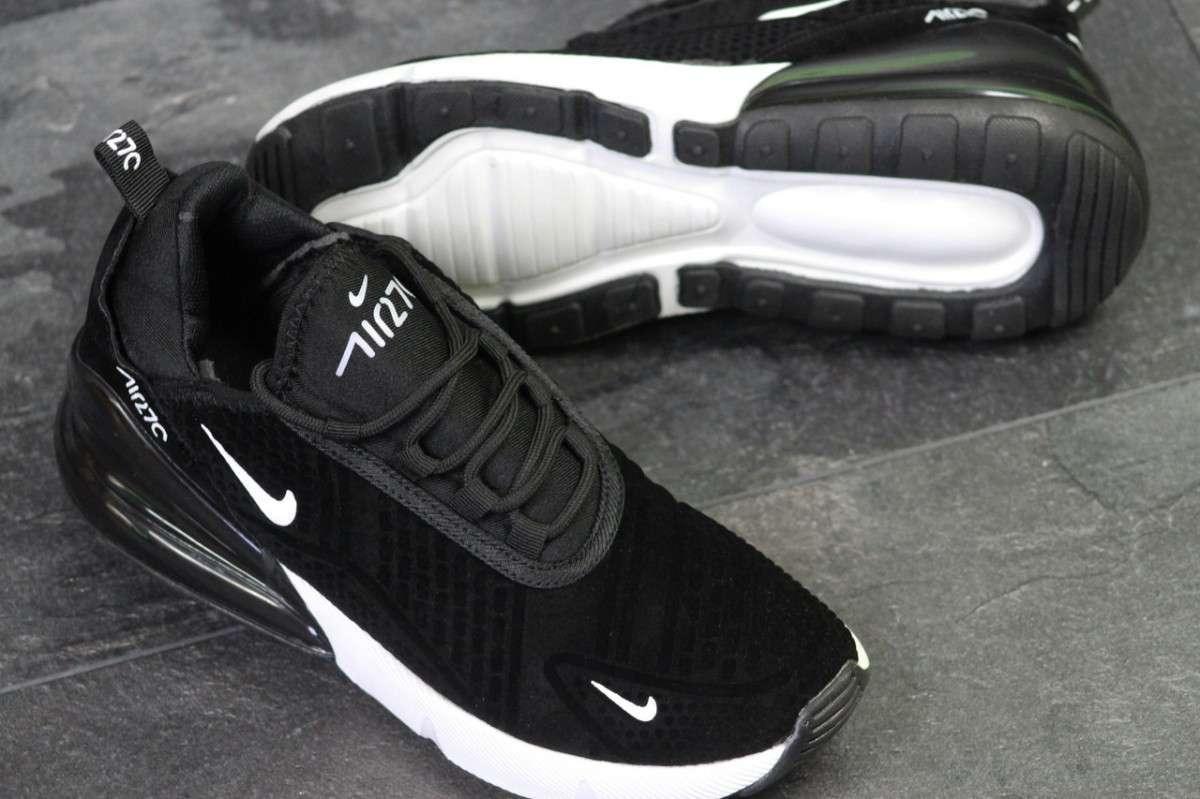 7c972c1e Кроссовки мужские черно-белые Nike Air Max 270 ...: 1 084 грн - Мода ...