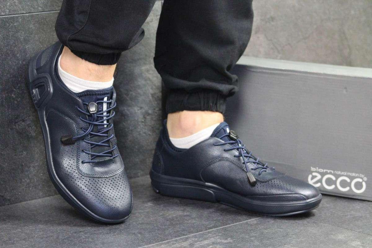 Кроссовки мужские темно синие Ecco 5006