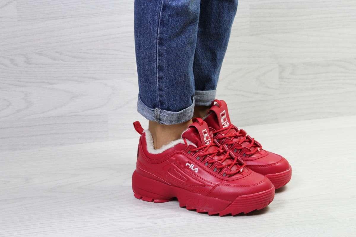 e499dc70d Женские кроссовки на зиму красные Fila 6799: 1 172 грн - Мода и ...