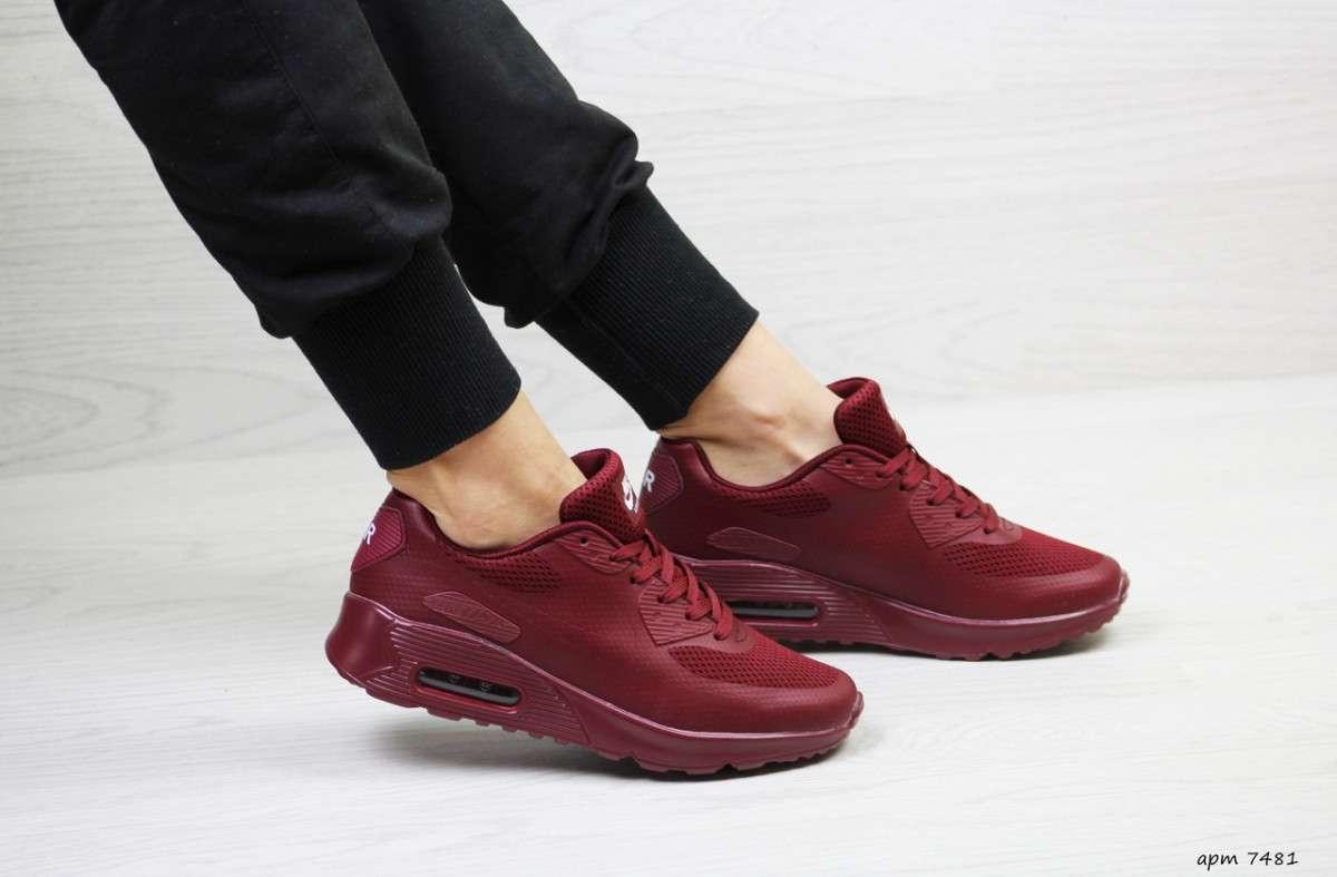 7243d3ac Женские кроссовки бордовые Nike Air Max Hyperfu...: 760 грн - Мода и ...