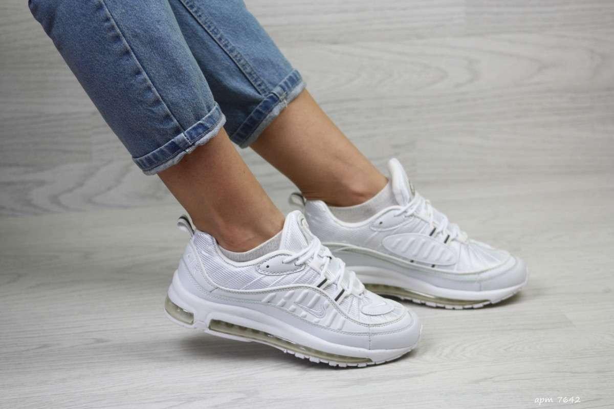 Женские кроссовки белые Nike Air Max 97 7642