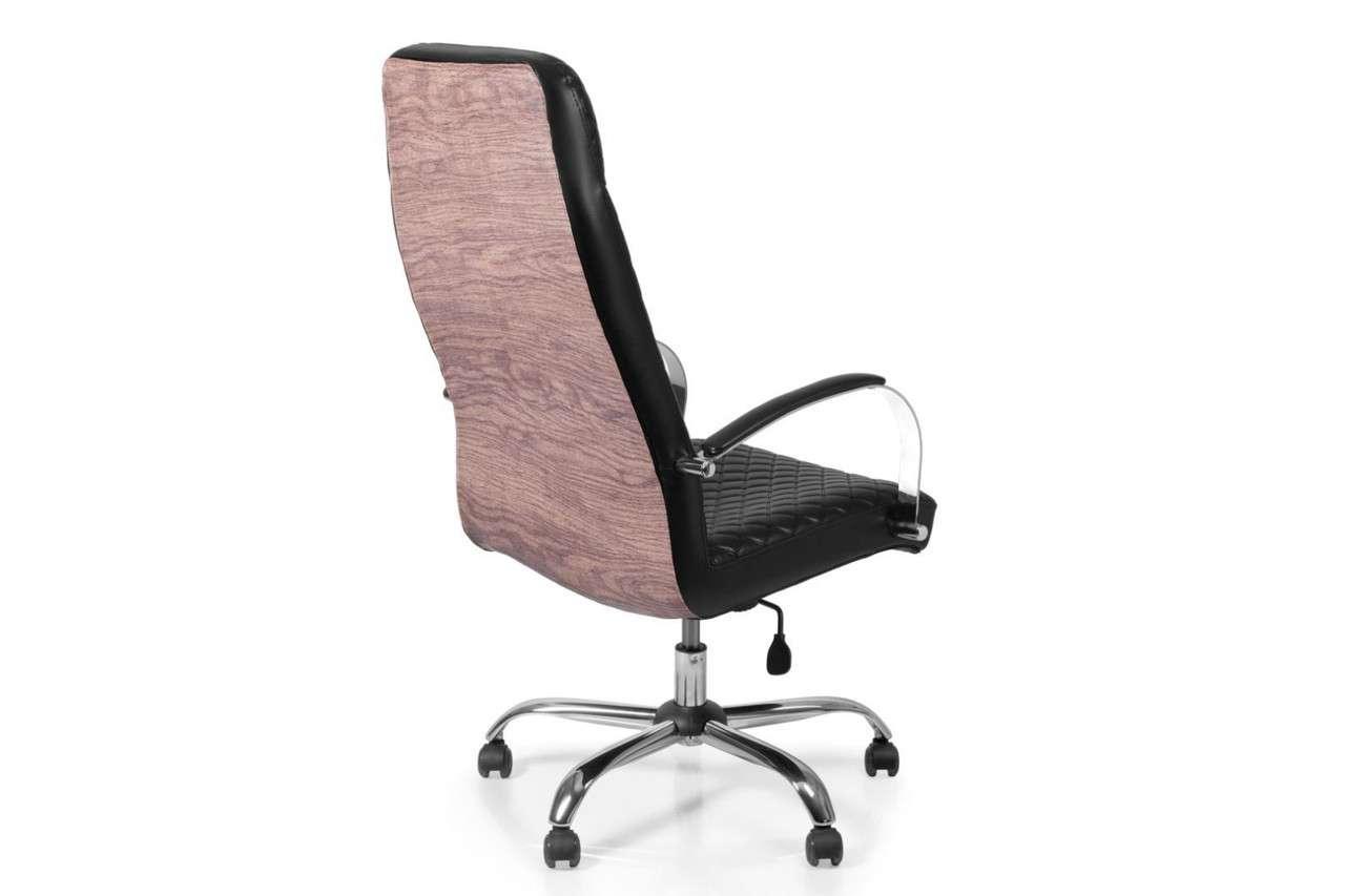 Кресло для врача Barsky Сhief Black Rhombus/Nut Chrome CF-08