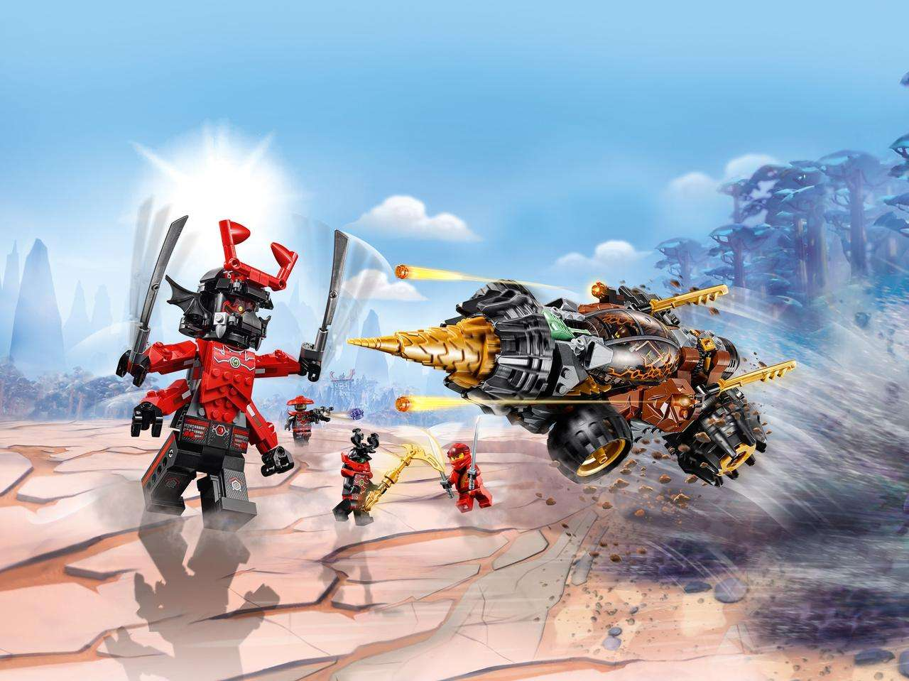Конструктор LEGO Ninjago. Земляной бур Коула