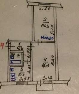 Продам 2 х комнатную квартиру район Павлово Поле .