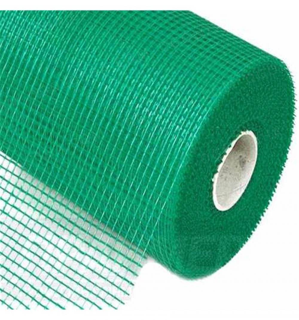 Сетка фасадная 5*5 мм зеленая 165 гр/м