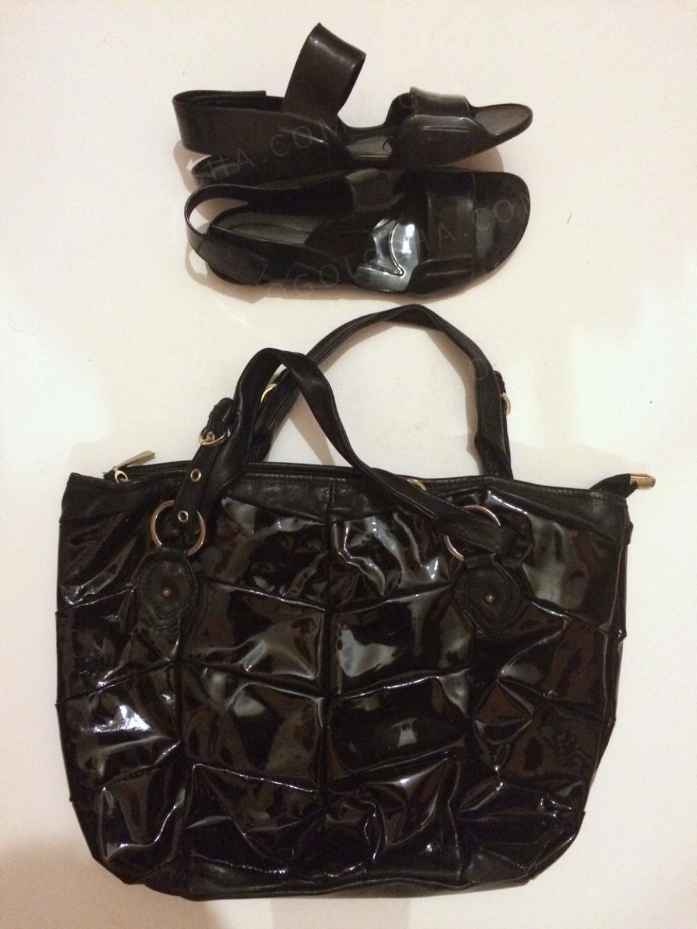 Босоножки 36-37 +подарок лаковая кожаная сумка
