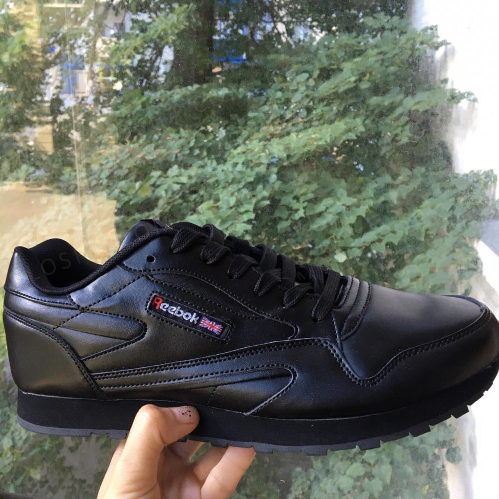 Кроссовки Reebok classic black Черные