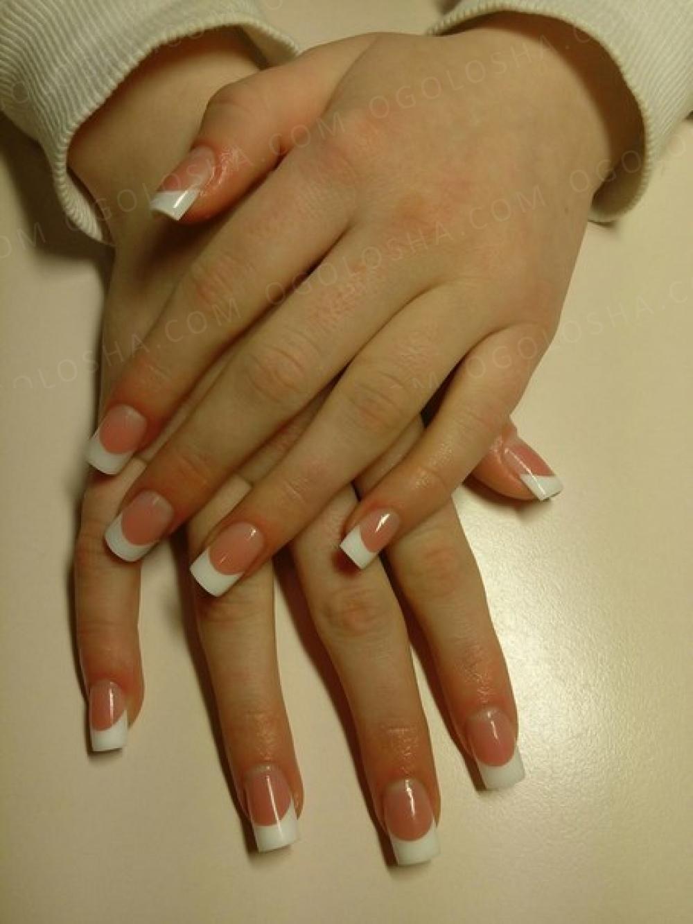 Наращивание ногтей гелем. Покрытие Гель-лак+маникюр. Укрепление ногтей гелем.