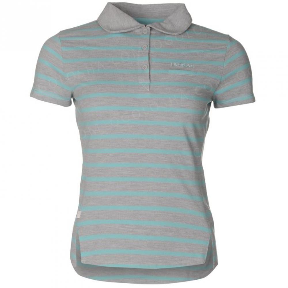 Поло футболка LA Gear из Англии серая с мятой, размер - M