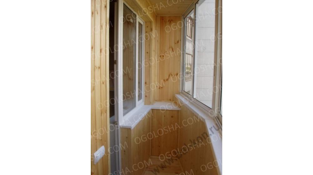 Фото к объявлению: внутренняя обшивка балкона *выравнивание .